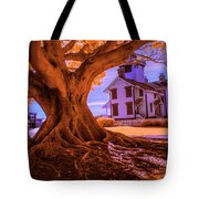 Historic Fermin Point Lighthouse In Infrared Tote Bag