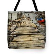 Historic Fishing Pier In Portugal I Tote Bag