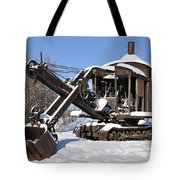 Historic Mining Steam Shovel During Alaska Winter Tote Bag
