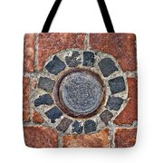 Historic Pavement Detail With Hungarian Town Seal Tote Bag