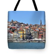 Historic Porto Riverfront Tote Bag