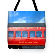 Historic Red Passenger Car, Austin & Tote Bag