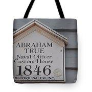 Historic Salem Naval Officer Tote Bag