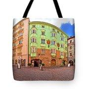 Historic Street Of Innsbruck Panoramic View Tote Bag
