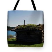 Historic Trappers Log Cabin Tote Bag