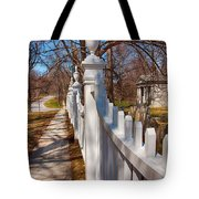 Historic Vermont Fence Tote Bag