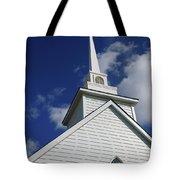 Historic White Church Tote Bag