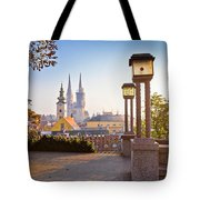 Historic Zagreb Towers Sunrise View Tote Bag