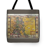 Historical Map Of Early Colorado Tote Bag