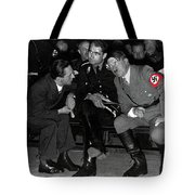 Hitler Conferring With Joseph Goebbels Circa 1936 Color Added 2016 Tote Bag