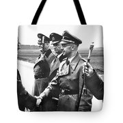 Hitler Shaking Hands With Heinrich Himmler Unknown Date Or Location Tote Bag
