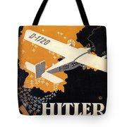 Hitler Uber Deutschland, Germany - Retro Travel Poster - Vintage Poster Tote Bag