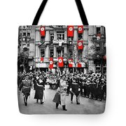 Hitler With Goering And Himmler Marching In Munich Germany C.1934-2016  Tote Bag