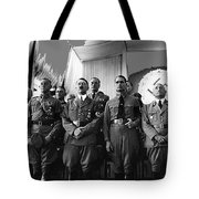 Hitler With Nazi Party Bigwigs Julius Streicher On Far Right C. 1935 Color Added 2016 Tote Bag