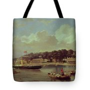 Hm Yacht Victoria Tote Bag by George Gregory