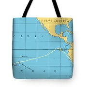 H.m.s. Beagle Course To Galapagos Tote Bag