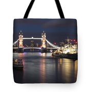 Hms Belfast And Tower Bridge Tote Bag