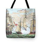 Hms Shannon Vs The American Chesapeake Tote Bag