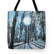 Hochleite In January Tote Bag