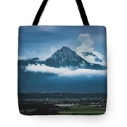 Hochstaufen And Zwiesel Mountain Peaks Tote Bag by Andy Konieczny