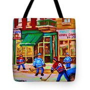 Hockey At Mehadrins Tote Bag