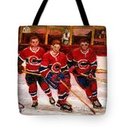 Hockey At The Forum Tote Bag