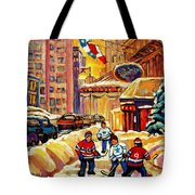 Hockey Fever Hits Montreal Bigtime Tote Bag