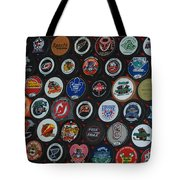 Hockey Pucks Tote Bag