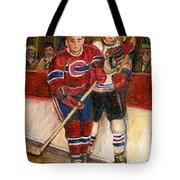 Hockey Stars At The Forum Tote Bag