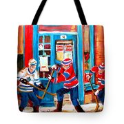 Hockey Sticks In Action Tote Bag