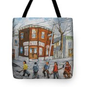 Hockey Town Montreal Created By Prankearts Tote Bag