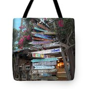 Hogfish Bar And Grill Directional Sign Tote Bag