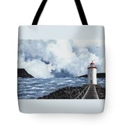 Hogsteinen Lighthouse Tote Bag