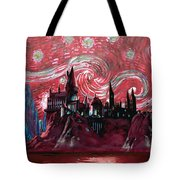 Hogwarts Starry Night In Red Tote Bag