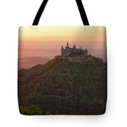 Hohenzollern Castle At Sunset Tote Bag by Yair Karelic