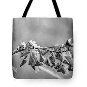 Hoir Frost On Leaves Tote Bag