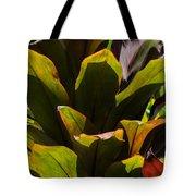Hojas Verdes Y Rojas Tote Bag