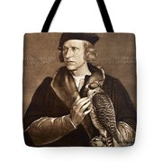 Holbein: Falconer, 1533 Tote Bag