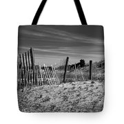 Holding Back The Dunes In Black And White Tote Bag