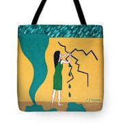 Holding Back The Flood Tote Bag