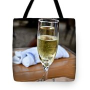 Holding Champagne Glass In Hand Tote Bag