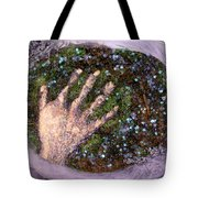 Holding Earth From The Series Our Book Of Common Faith Tote Bag