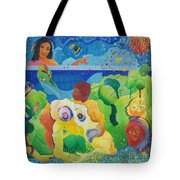 Holding Lifes Illusion Tote Bag