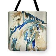 Holding On     War Ponies Tote Bag