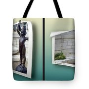 Holding Up My End - Gently Cross Your Eyes And Focus On The Middle Image Tote Bag