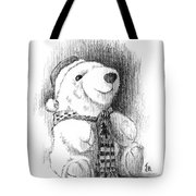 Holiday Bear Tote Bag