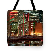 Holiday Colors Along Chicago River Tote Bag