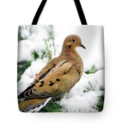 Holiday Dove Tote Bag