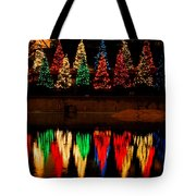 Holiday Evergreen Reflections Tote Bag