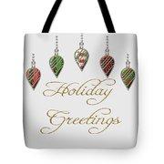 Holiday Greetings Merry Christmas Tote Bag